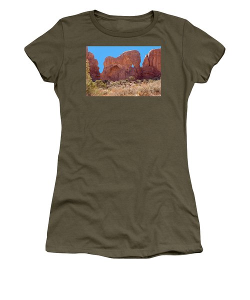 Women's T-Shirt (Athletic Fit) featuring the photograph Elephant In The Rock by John M Bailey