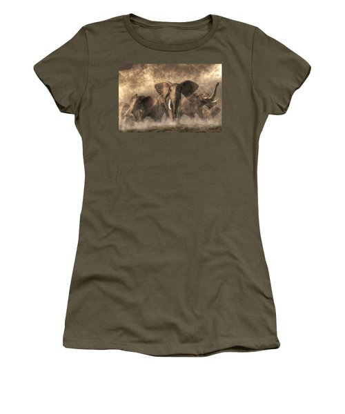 Elephant Stampede Women's T-Shirt