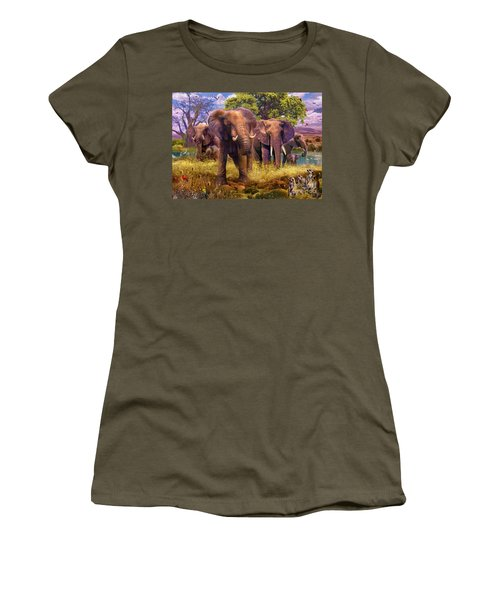 Elephants Women's T-Shirt (Athletic Fit)