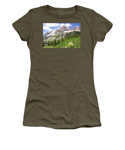 Elk Mountains Women's T-Shirt (Junior Cut) by Eric Glaser