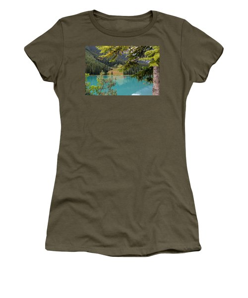 Emerald Lake British Columbia Women's T-Shirt (Athletic Fit)