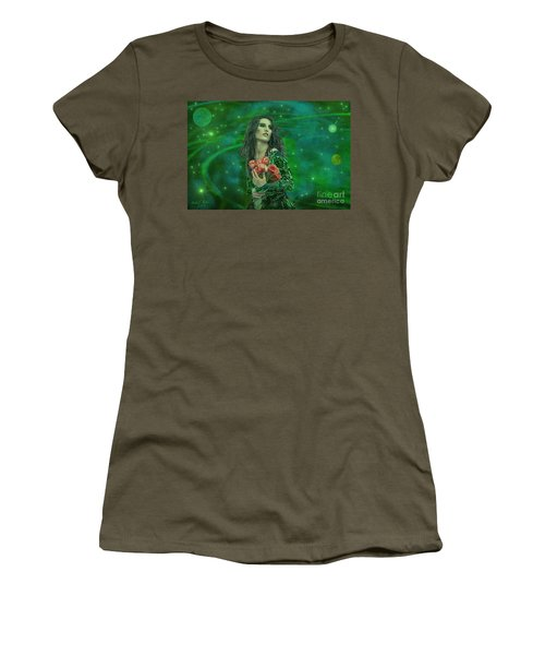 Emerald Universe Women's T-Shirt (Junior Cut) by Michael Rucker