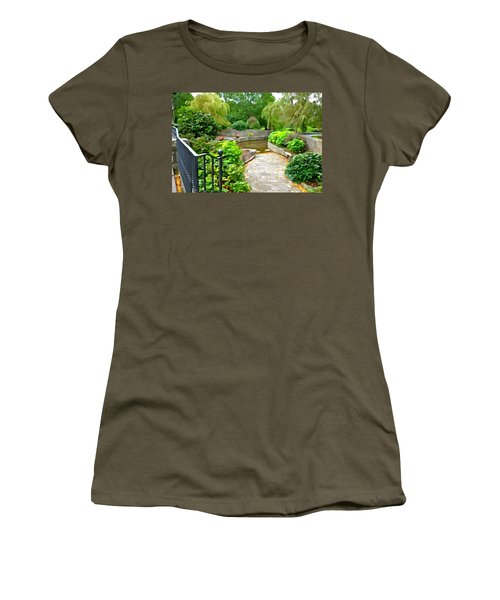 Enter The Garden Women's T-Shirt (Junior Cut) by Charlie and Norma Brock