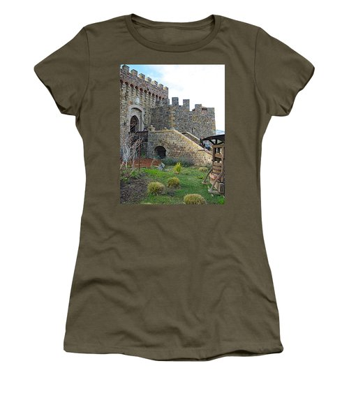 Entrance To Castello Di Amorosa In Napa Valley-ca Women's T-Shirt (Athletic Fit)