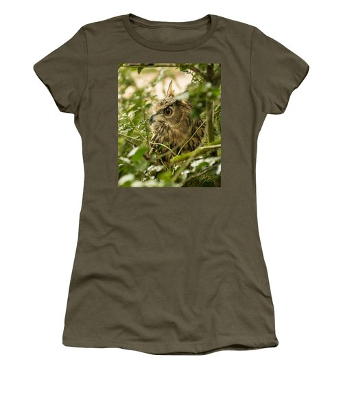 Eurasian Eagle-owl 2 Women's T-Shirt (Athletic Fit)