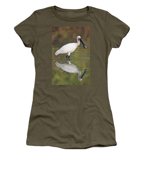 Eurasian Spoonbill Platalea Leucorodia Women's T-Shirt (Athletic Fit)