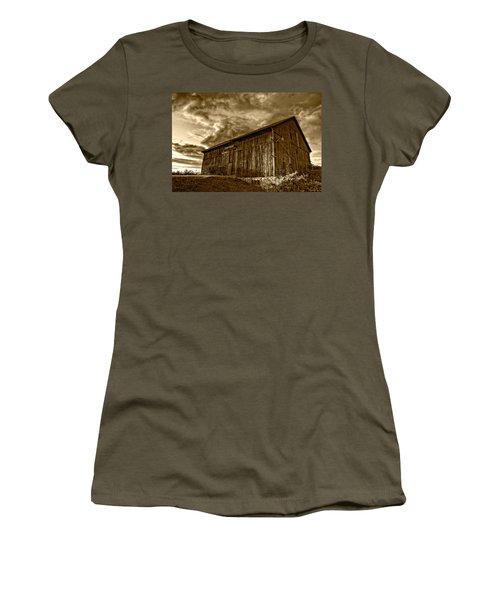 Evening Barn Sepia Women's T-Shirt
