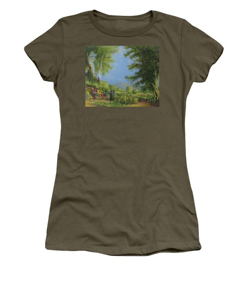 Evening In The Shire. Women's T-Shirt (Junior Cut) by Joe  Gilronan