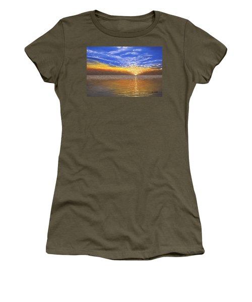 Evening Splash Women's T-Shirt (Athletic Fit)