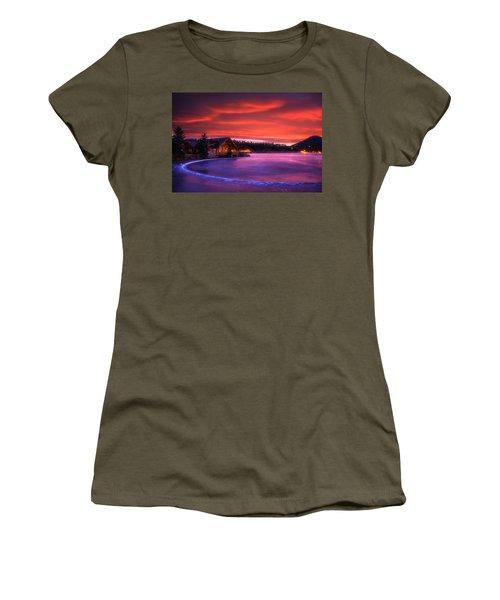 Evergreen Lake Sunrise Women's T-Shirt