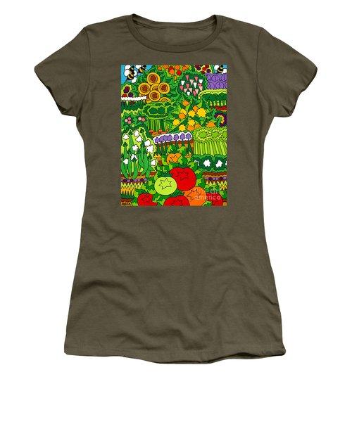 Eve's Garden Women's T-Shirt (Junior Cut) by Rojax Art