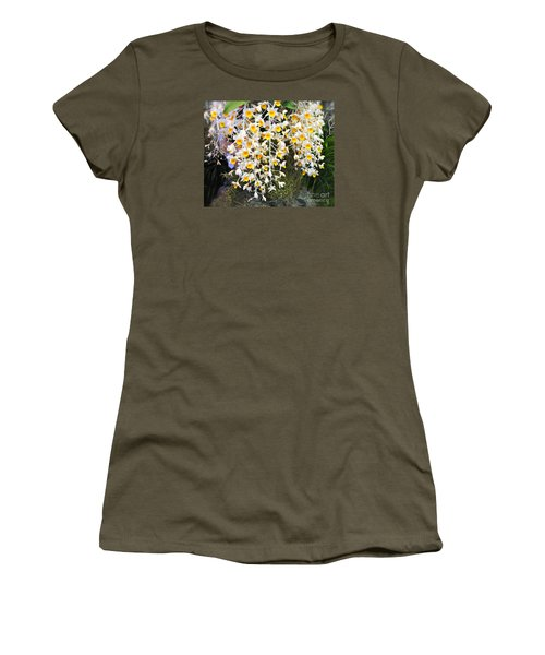 Exotic Aerides Women's T-Shirt (Junior Cut) by The Art of Alice Terrill