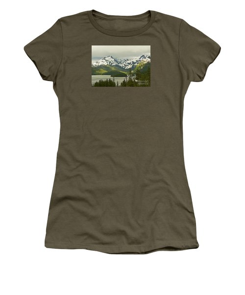 Eyak Lake Landscape Women's T-Shirt (Junior Cut) by Nick  Boren