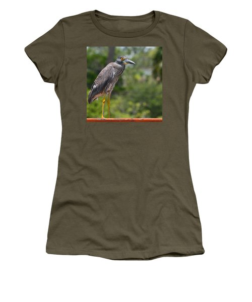 Women's T-Shirt (Junior Cut) featuring the photograph Eye To Lens by DigiArt Diaries by Vicky B Fuller