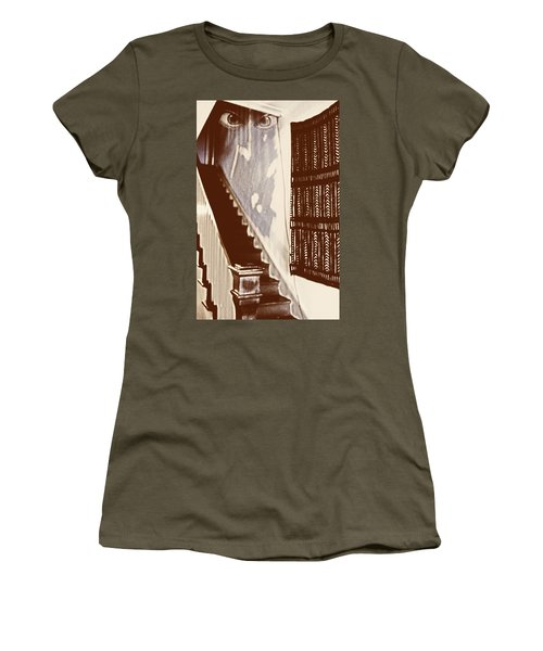 Eyes At The Top Of The Stairs Women's T-Shirt (Athletic Fit)