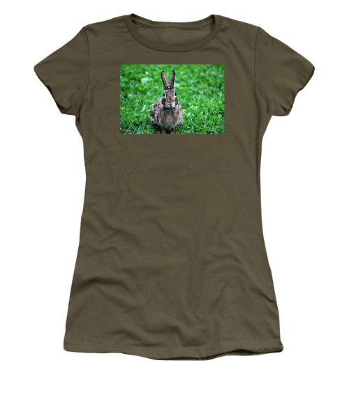 Women's T-Shirt (Junior Cut) featuring the photograph Eyes Wide Open by Trina  Ansel