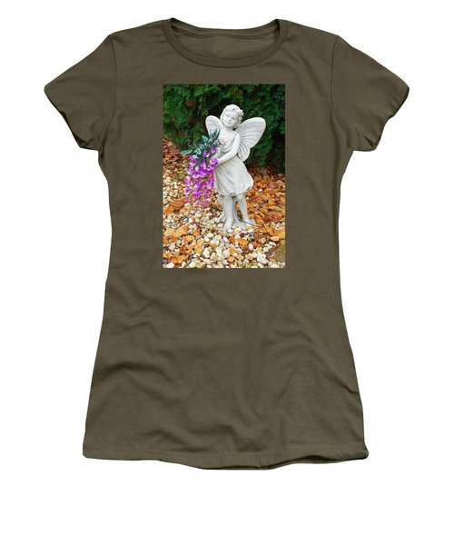Women's T-Shirt (Junior Cut) featuring the photograph Fairy by Aimee L Maher Photography and Art Visit ALMGallerydotcom