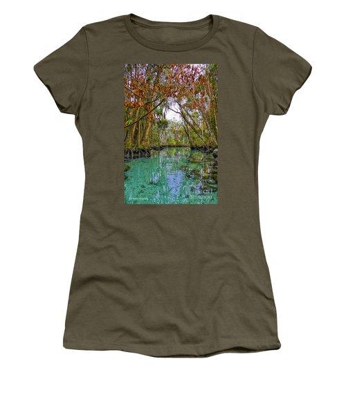 Fall Colors Along Three Sisters Spring Run Women's T-Shirt