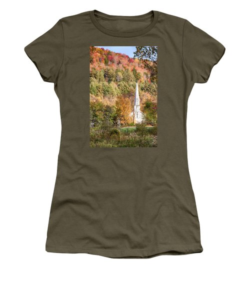 Fall Colors Over Vermont Church Women's T-Shirt