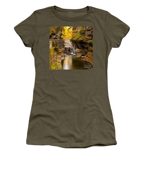 Fall Foliage At Dusk Treman Park Women's T-Shirt