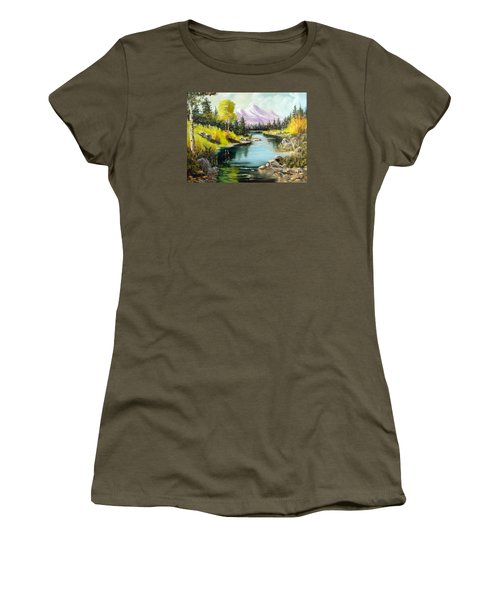 Fall In The Rockies Women's T-Shirt (Junior Cut) by Lee Piper