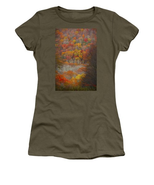 Women's T-Shirt (Junior Cut) featuring the photograph Fall Tunnel by Raymond Salani III