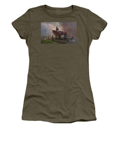 Fallen Comrade Women's T-Shirt (Junior Cut) by Rob Corsetti