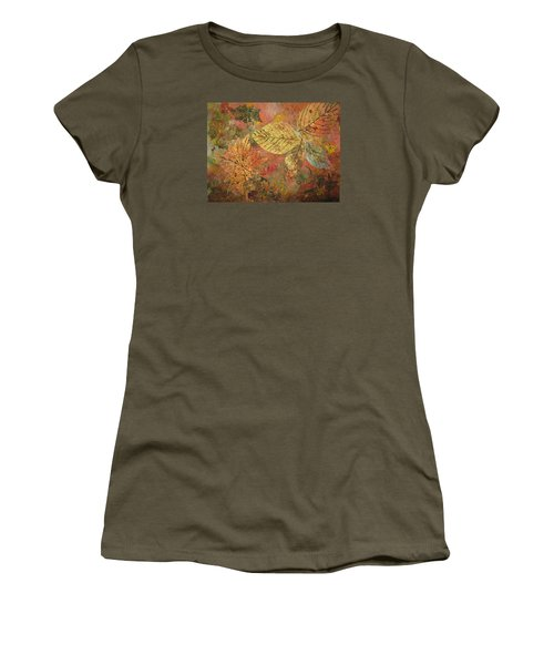 Fallen Leaves II Women's T-Shirt (Athletic Fit)