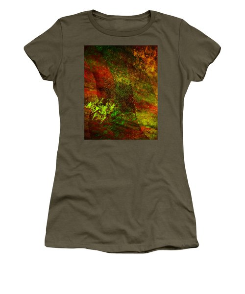Women's T-Shirt (Junior Cut) featuring the mixed media Fallen Seasons by Ally  White