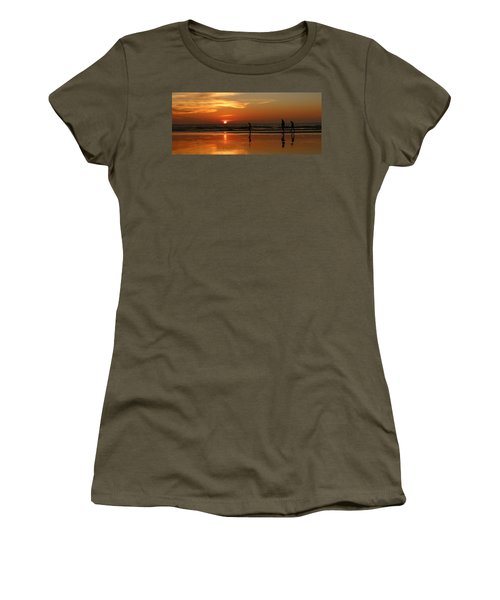 Family Reflections At Sunset - 5 Women's T-Shirt
