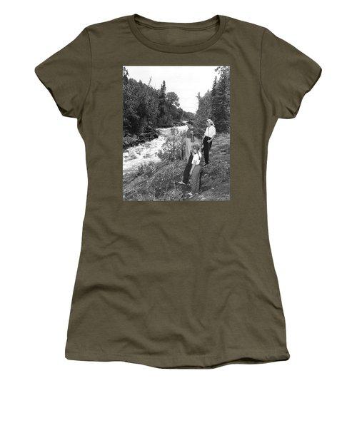 Family Trout Fishing Women's T-Shirt
