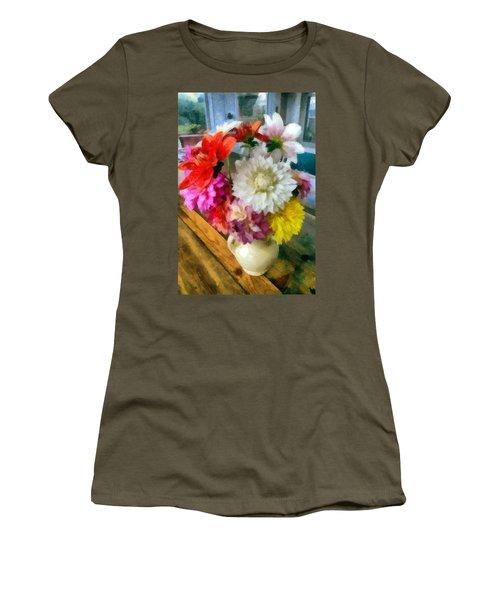 Farmhouse Arrangement Women's T-Shirt (Athletic Fit)