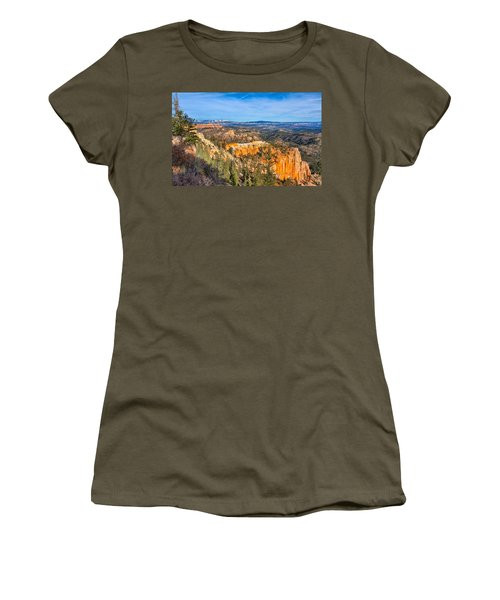 Women's T-Shirt (Athletic Fit) featuring the photograph Farview Point Tableau by John M Bailey