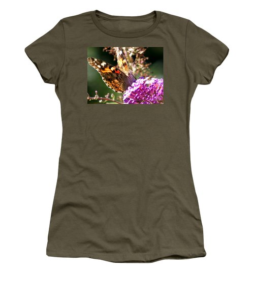 Women's T-Shirt (Junior Cut) featuring the photograph Feeding by Eunice Miller