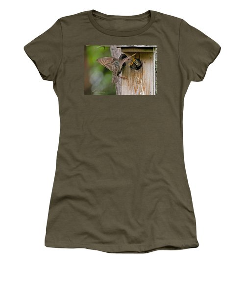 Feeding Starlings Women's T-Shirt (Athletic Fit)