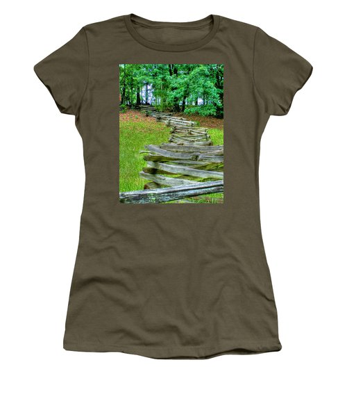 Fence Line Women's T-Shirt (Junior Cut) by Dan Stone