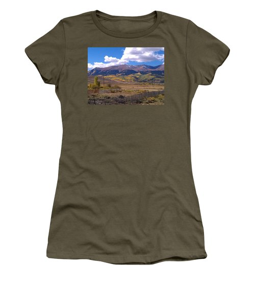 Fenced Nature Women's T-Shirt (Athletic Fit)