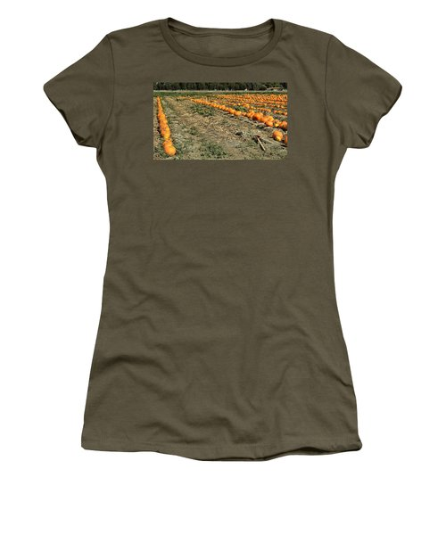 Fencing The Pumpkin Patch Women's T-Shirt (Athletic Fit)