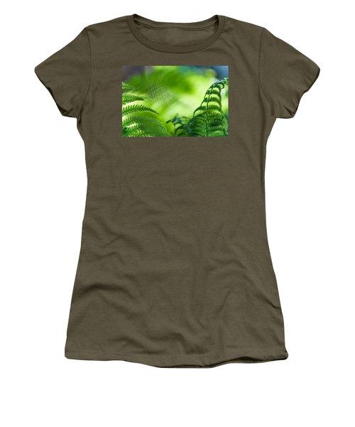 Fern Leaves. Healing Art Women's T-Shirt