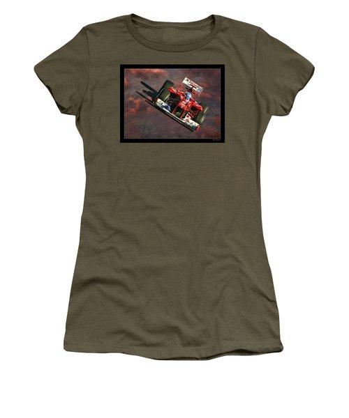 Fernando Alonso Ferrari Women's T-Shirt (Athletic Fit)