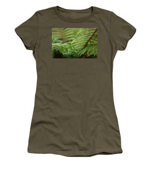 Ferns Art Prints Green Fores Fern Women's T-Shirt