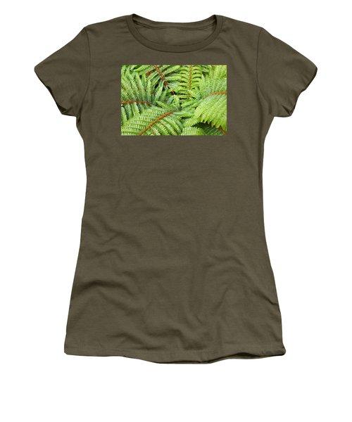 Ferns Forest Art Prints Green Fern Fronds Women's T-Shirt