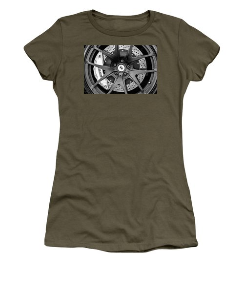 Ferrari Wheel Emblem - Brake Emblem -0430bw Women's T-Shirt