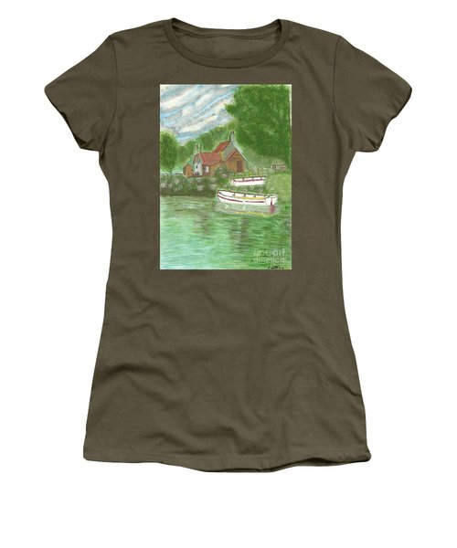 Ferryman's Cottage Women's T-Shirt (Junior Cut) by Tracey Williams