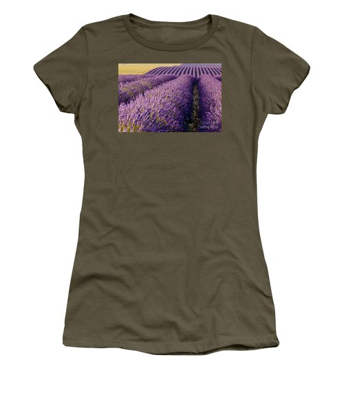 Women's T-Shirt featuring the photograph Fields Of Lavender by Brian Jannsen