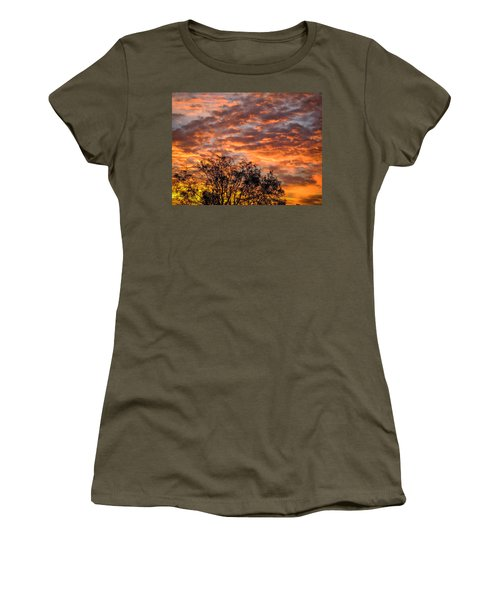 Fiery Sunrise Over County Clare Women's T-Shirt