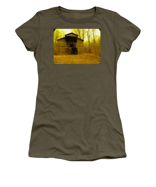 Women's T-Shirt (Junior Cut) featuring the photograph Filtered Barn by Nick Kirby