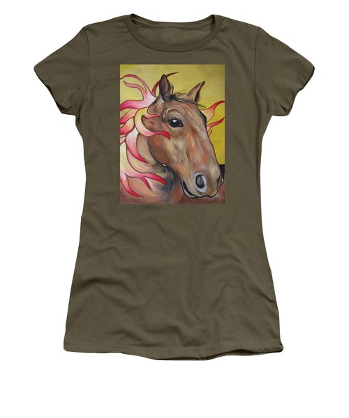 Fire Horse Women's T-Shirt (Athletic Fit)