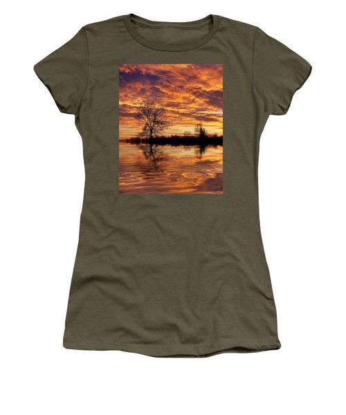 Fire Painters In The Sky Women's T-Shirt
