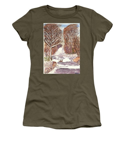 First Footprints Women's T-Shirt (Athletic Fit)